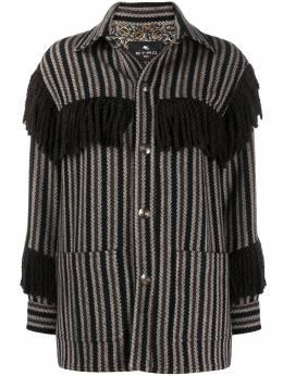 Etro куртка с бахромой 18755492