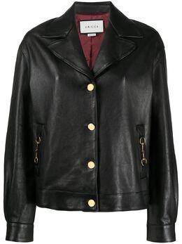 Gucci куртка на пуговицах с пряжками Horsebit 629534XNADG