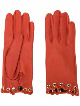 Manokhi short lace-through gloves AW20MANO173A888SHORTLACERED
