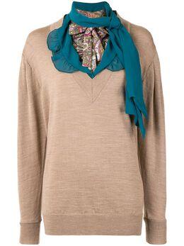 Kolor трикотажный джемпер с шарфом 20WCLN04318