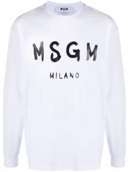 MSGM logo print T-shirt 2940MM105207598