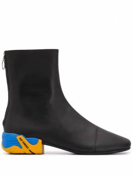 Raf Simons contrast-heel ankle boots HR780001L