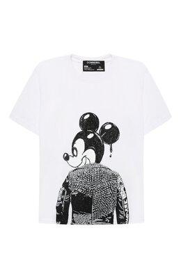 Хлопковая футболка Dom Rebel MICK/T-SHIRT/4-14
