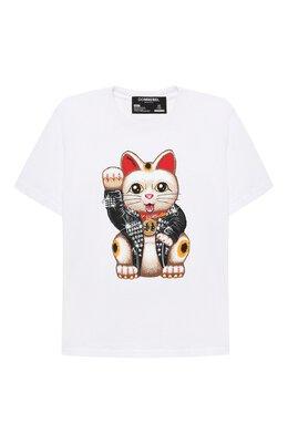Хлопковая футболка Dom Rebel LUCKY/T-SHIRT/4-14