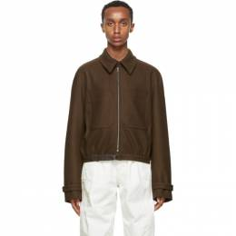 Lemaire Brown Wool Zipped Jacket M 203 OW160 LF505