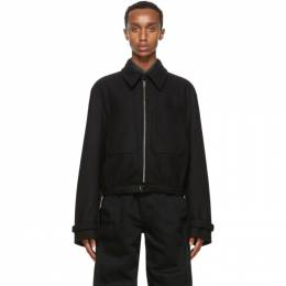 Lemaire Black Wool Zipped Jacket M 203 OW160 LF505