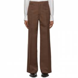 Lemaire Brown Wool Wide Leg Trousers M 203 PA152 LF483