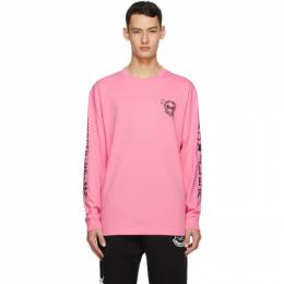 Moncler Genius 2 Moncler 1952 Pink UNDEFEATED Edition Logo Long Sleeve T-Shirt 8D703 - 10 - V8189