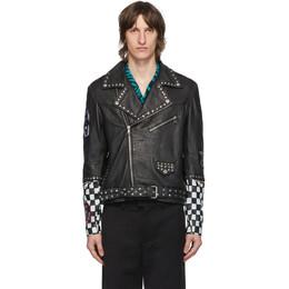 Stolen Girlfriends Club Black Leather Cross Town Jacket C2-20404
