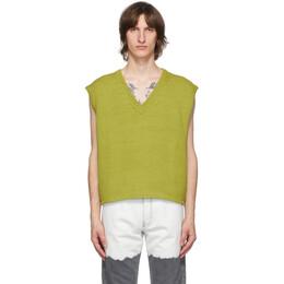 Enfants Riches Deprimes Green Boxy Sweater Vest 080-134