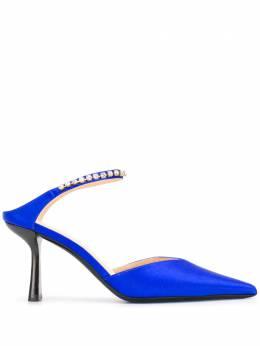By Far туфли с кристаллами и заостренным носком ALLA