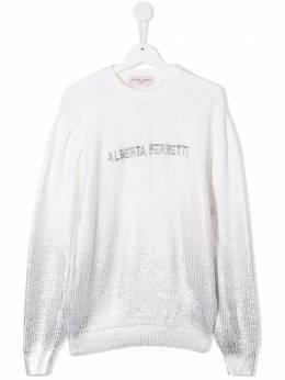 Alberta Ferretti Kids embroidered logo jumper 025336
