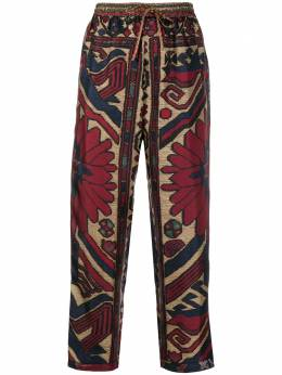 Pierre-louis Mascia embroidery pattern cropped trousers ALOESPT10959