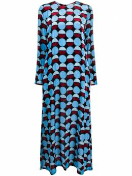 La Doublej длинное платье с графичным принтом DRE0184VEL004SFE0003