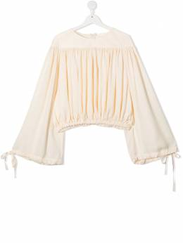 Unlabel TEEN gathered bell-sleeved blouse KICK1