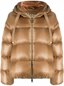 Herno metallic quilted puffer jacket PI1148D12017