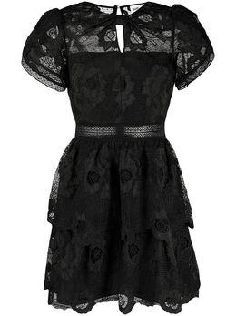 Self-Portrait платье мини из цветочного кружева AW20136