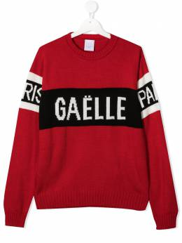 Gaelle Paris Kids джемпер вязки интарсия с логотипом 2731W0074