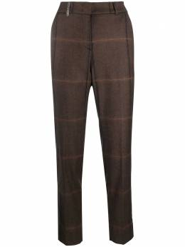 Peserico check-pattern tapered trousers P0471806521