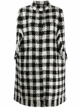 Charlott checked cape coat 612419
