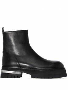 Ann Demeulemeester zip-up chunky ankle boots 20022942390098