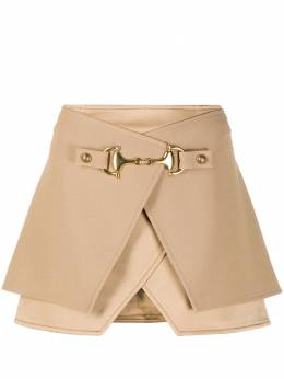 Balmain horsebit layered mini skirt UF04079V089