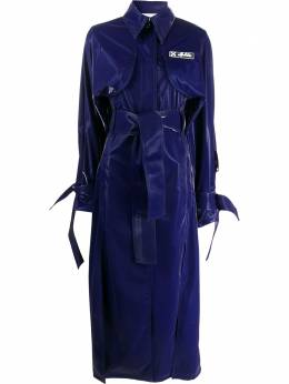 Off-White long belted trench coat OWEA233F20FAB0024500