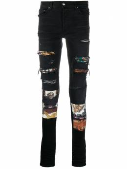 Amiri patch detail skinny-fit jeans W0M01585SD