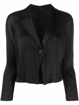 Pleats Please Issey Miyake micro-pleated cropped jacket PP08JD182