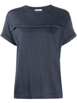Brunello Cucinelli embroidered fine-knit T-shirt M13829000C7186