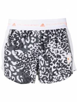 Adidas by Stella McCartney animal-print running shorts FU0749WHIBLK