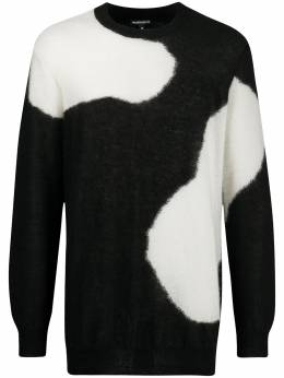 Ann Demeulemeester two-tone knitted jumper 20024008