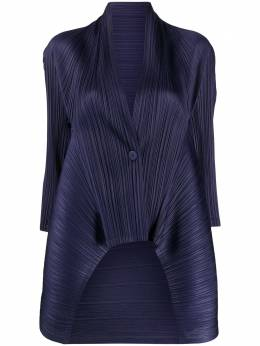 Pleats Please Issey Miyake micro-pleated single-buttoned jacket PP08J0492