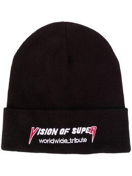 Vision Of Super logo embroidered beanie hat VOSB11BEANIEROCK