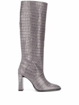 By Far knee-length croc effect boots 20FWCAMDGRD