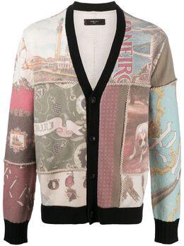 Amiri patchwork print button-up cardigan W0M05313CY
