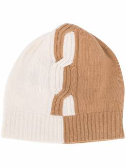 D'Exterior two-tone cable knit beanie 512071