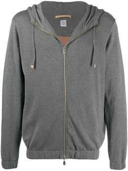 Eleventy drawstring zipped hoodie B75FELB05FEL26005