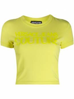 Versace Jeans Couture футболка с вышитым логотипом EB2HZA7GCE30383