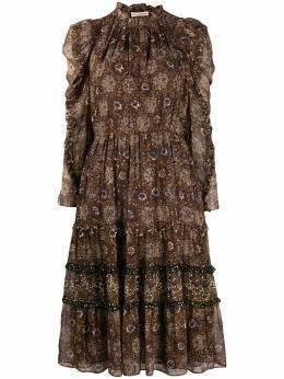 Ulla Johnson расклешенное платье с цветочным принтом FA200124