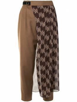 Kolor укороченные брюки с логотипом 20WCLP07110