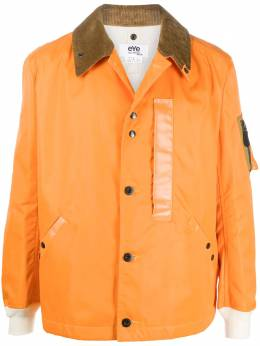Junya Watanabe Man куртка на пуговицах с вельветовым воротником WFJ910W20