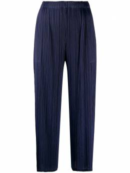 Pleats Please Issey Miyake micro-pleated cropped trousers PP08JF493