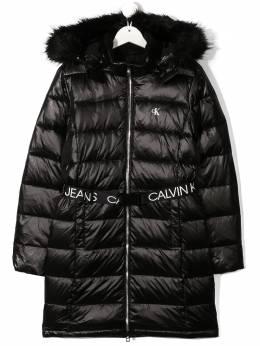 Calvin Klein Kids пуховик с поясом IG0IG00596