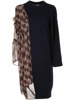 Kolor трикотажное платье с контрастными вставками 20WCLO01320