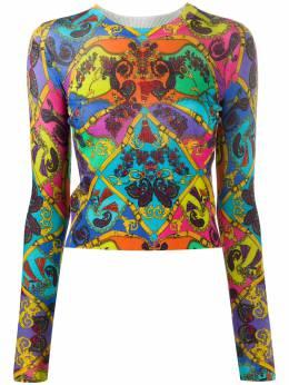 Versace Jeans Couture топ в стиле колор-блок с принтом Baroque EB4HZA817E50403