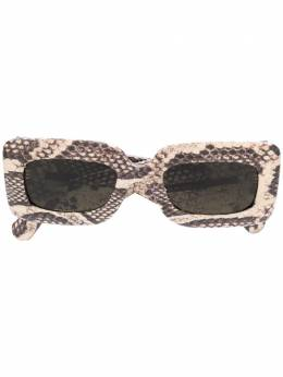 Gucci Eyewear snakeskin effect rectangular sunglasses GG0816S