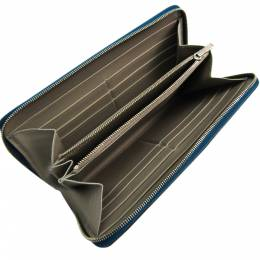 Celine Navy Blue Leather Long Wallet 329906