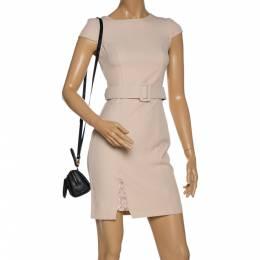 MCM Black Signature Nylon and Leather Mini Zip Shoulder Bag 330022