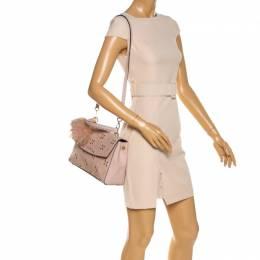 Michael Kors Pink Studded Leather Medium Ava Top Handle Bag 328512